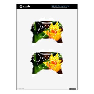 Yellow and Orange Tulip Xbox 360 Controller Decal