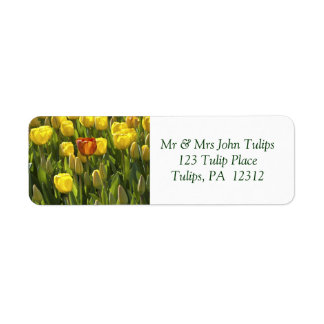 Yellow and Orange Tulips Return Address Label