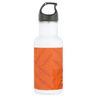 Yellow and Orange Waves Water Bottle