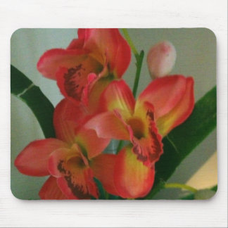 yellow and orangy pink flower arrangement mouse pad