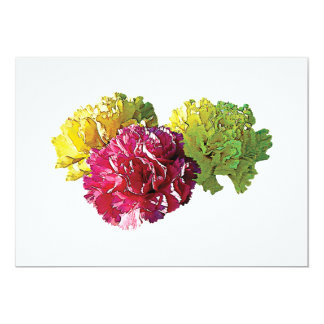 Yellow and Pink Carnations Card