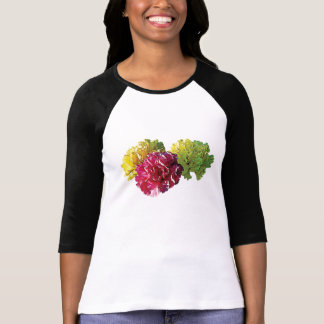 Yellow and Pink Carnations ladies T-Shirt