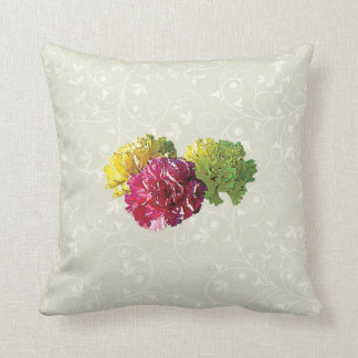 Yellow and Pink Carnations Throw Pillow