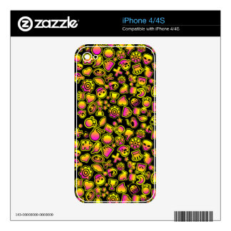 Yellow and Pink Emoji Monsters - Decals For iPhone 4