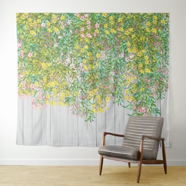 Professional Business Yellow and Pink Jasmine Tapestry