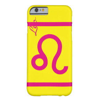 Yellow and pink Leo zodiac cell Phone caset Barely There iPhone 6 Case