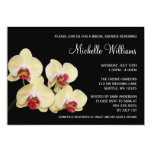 Yellow and Pink Orchid Bridal Shower 5x7 Paper Invitation Card