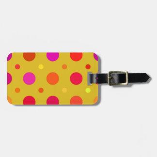 Yellow and Pink Polka Dots Bag Tag