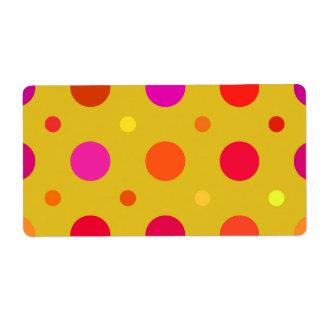 Yellow and Pink Polka Dots Shipping Label
