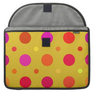 Yellow and Pink Polka Dots MacBook Pro Sleeve
