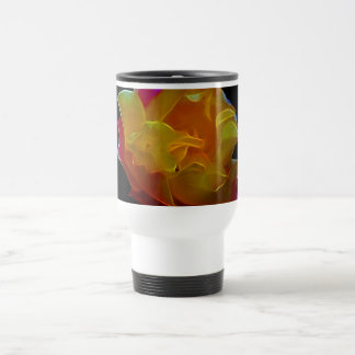 Yellow and pink rose and meaning 15 oz stainless steel travel mug