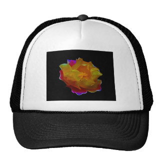 Yellow and pink rose and meaning trucker hat