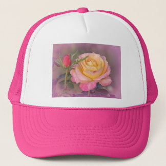 Yellow and Pink Roses Hat