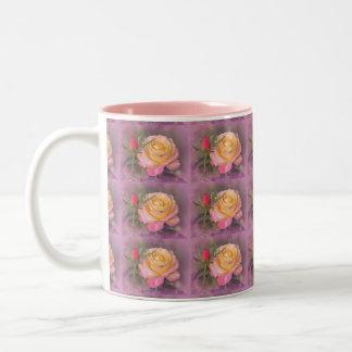 Yellow and Pink Roses Mug