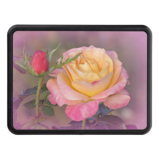 Yellow and Pink Roses Tow Hitch Covers