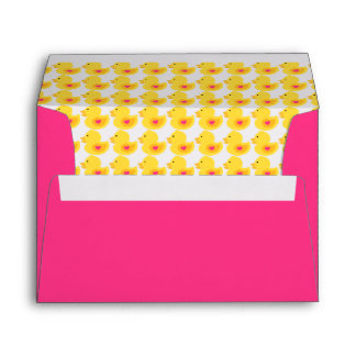 Yellow and Pink Rubber Ducky Pattern Envelope