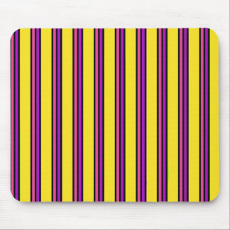 Yellow and Pink Stripes Mouse Pad