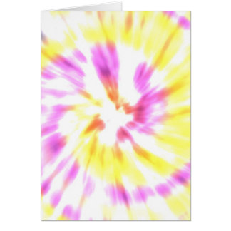 Yellow and Pink Tie Dye Card
