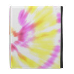 Yellow and Pink Tie Dye iPad Folio Cover