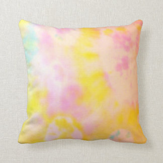 Yellow and Pink Tie dyed cushion