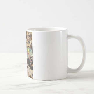 Yellow and Plum Trout Lily and Snail Shell Coffee Mug