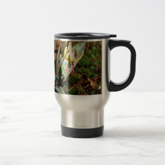 Yellow and Plum Trout Lily Travel Mug