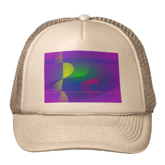 Yellow and Purple Abstract Composition Trucker Hat