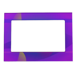Yellow and Purple Abstract Composition Picture Frame Magnets