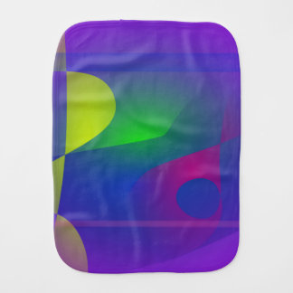 Yellow and Purple Abstract Composition Baby Burp Cloths