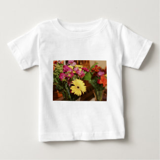Yellow and Purple and Orange Flowers Bouquet Baby T-Shirt