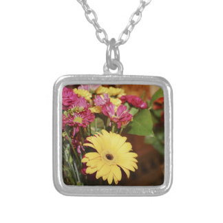 Yellow and Purple and Orange Flowers Bouquet Jewelry