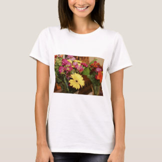 Yellow and Purple and Orange Flowers Bouquet T-Shirt