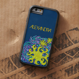 Yellow And Purple Astrum Vita Abstract Art Tough Xtreme iPhone 6 Case