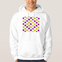 Yellow and Purple Basketball Pattern Hoodie