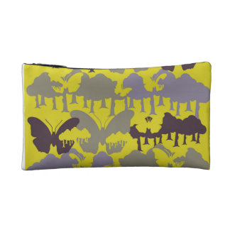 Yellow and purple butterfly coin purse