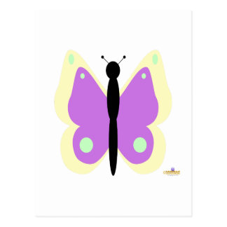 Yellow And Purple Butterfly Postcard
