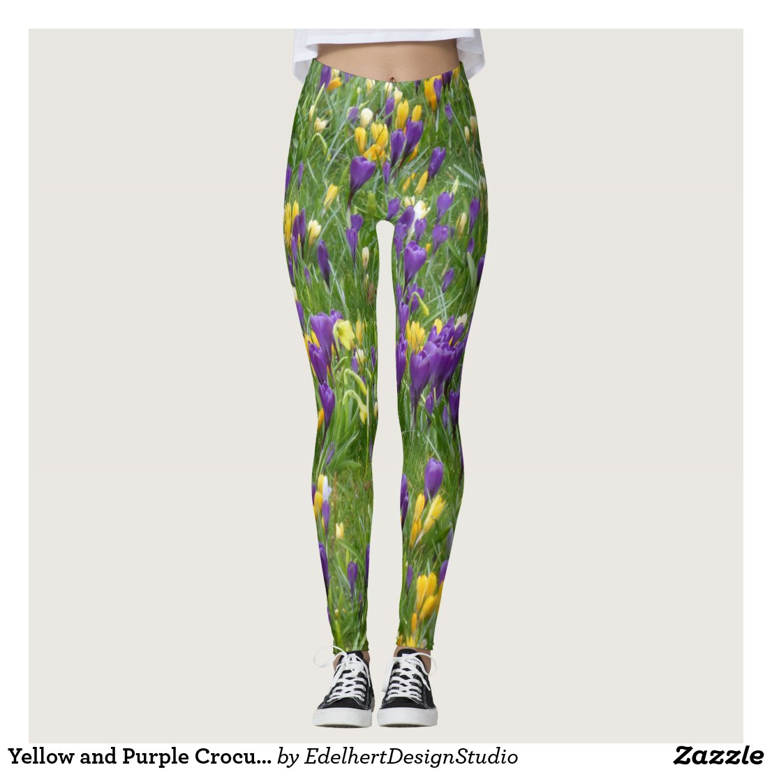 Yellow and Purple Crocuses Leggings