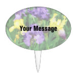 Yellow and Purple Irises Cake Toppers