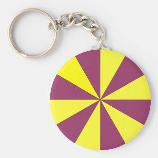 yellow and purple keychain
