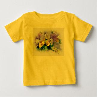 Yellow and Purple Pansies Baby T-Shirt