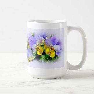 Yellow and Purple Pansies Coffee Mug