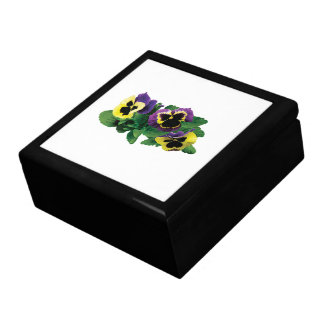 Yellow and Purple Pansy Trio Gift Box