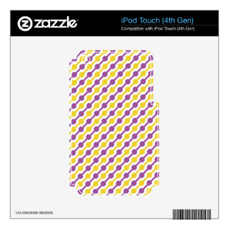 Yellow and Purple Retro Stripes Decals For iPod Touch 4G