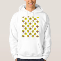 Yellow and Purple Soccer Ball Pattern Hoodie
