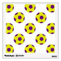 Yellow and Purple Soccer Ball Pattern Wall Sticker