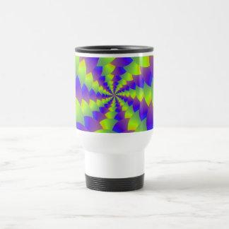 Yellow and Purple Spiral Mug