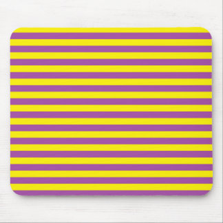 Yellow and Purple Stripes Mouse Pad