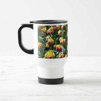 Yellow and Purple Tulips 15 Oz Stainless Steel Travel Mug
