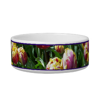 Yellow and Purple Tulips Bowl