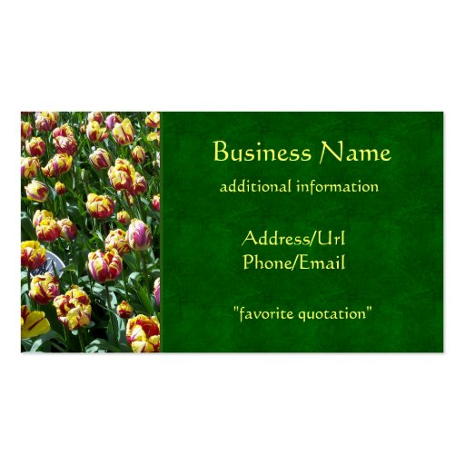Yellow and Purple Tulips Business Card